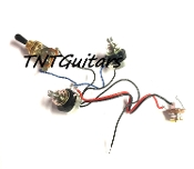 1V1T Prewired Harness, 2 Pickup SEALED Pots HH/HS 3WToggleSwitch