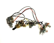 1V2T Prewired Harness, 2 Pickup PUSH-PULL Coil Split 3Way Toggle Switch