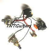 1V2T Prewired Harness, 2 Pickup CTS DUAL PUSH-PULL Coil Split 3Way Toggle