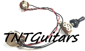 1V Prewired Harness, 2 Pickup Standard HH/HS, 3W Toggle Switch