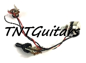 1V Prewired Harness, 2 Pickup, SEALED Pot HH/HS 3WToggleSwitch