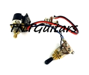 1V Prewired Harness, 2 Pickup CTS PUSH-PULL Coil Split, 3Way Toggle Switch