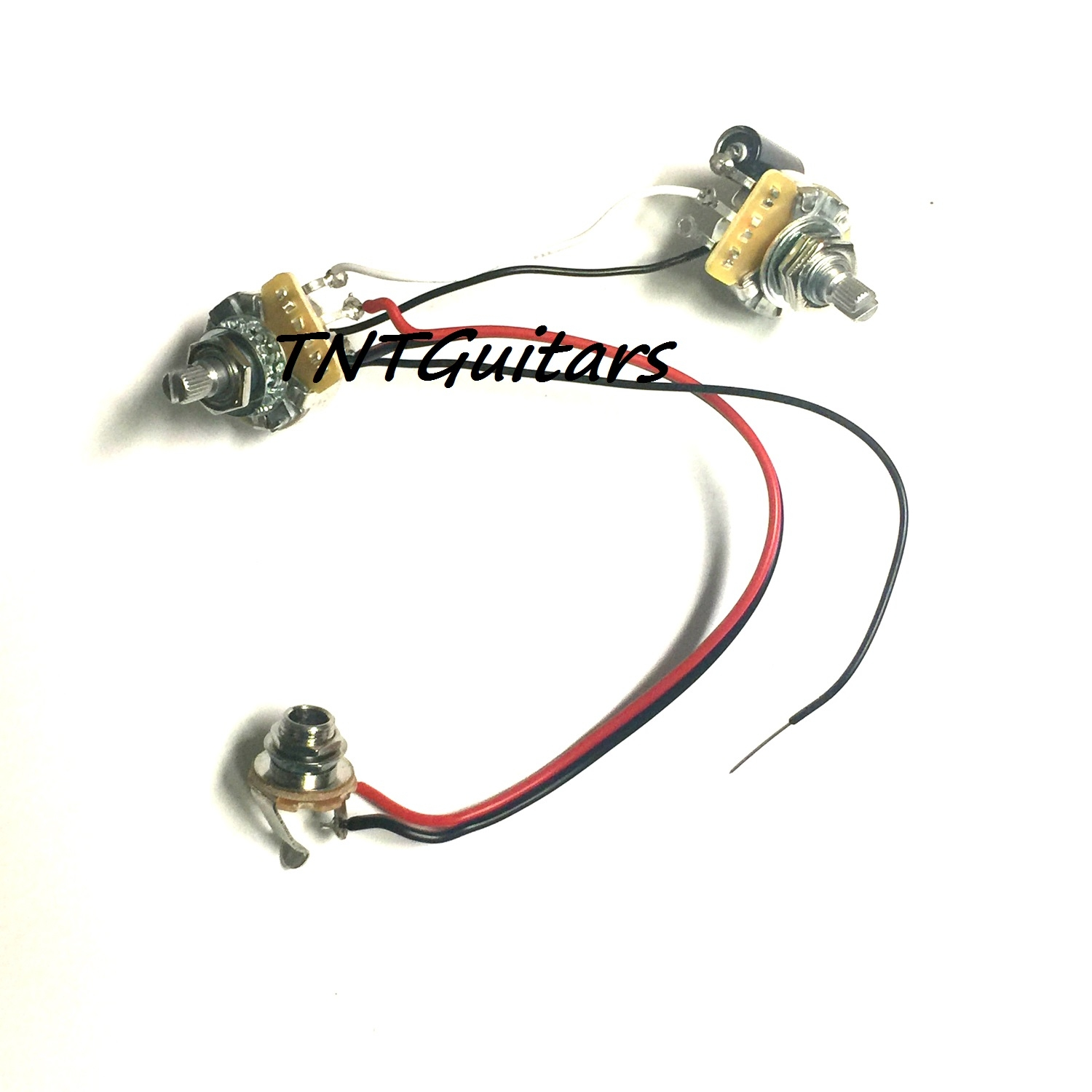 1v1t one pickup wiring harness ~ cts pots 1 vol 1 tone prewired