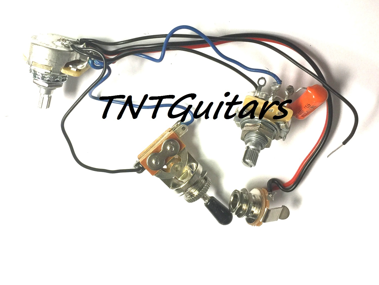 1v1t Prewired Harness 2 Pickup Cts Pots Hh Hs 3 Way Toggle Switch Guitar Wiring Volume Tone 3way Jack