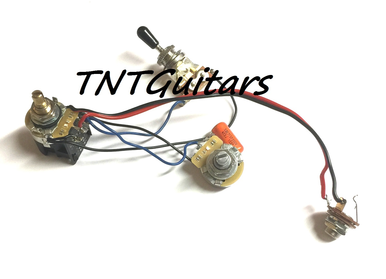 1v1t Prewired Harness 2 Pickup Cts Push Pull Coil Split 3 Way Pot Wiring Diagram Toggle Switch