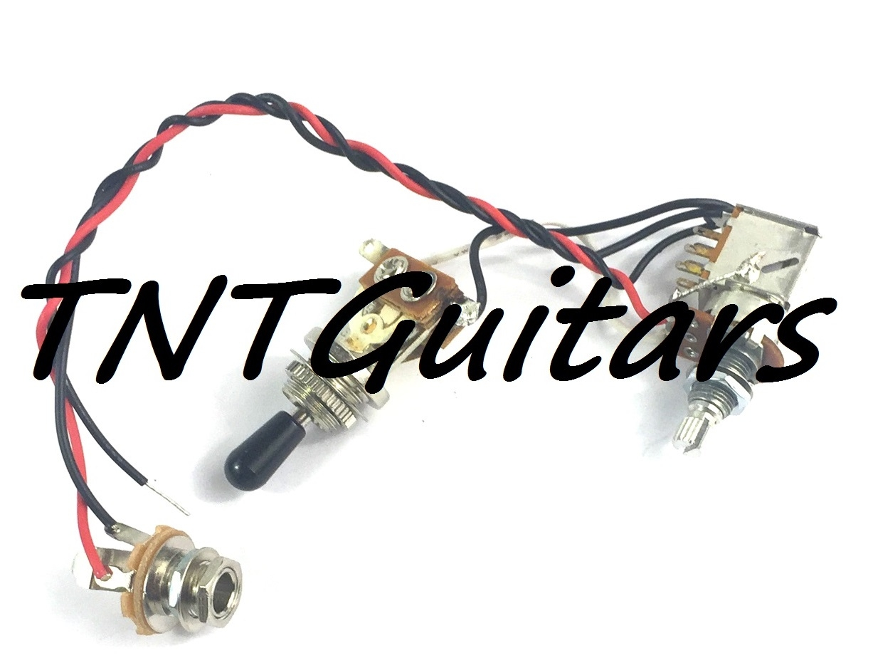 1v Prewired Harness 2 Pickup Push Pull Coil Split 3 Way Toggle Switch Guitar Wiring Volume Tone 3way Jack