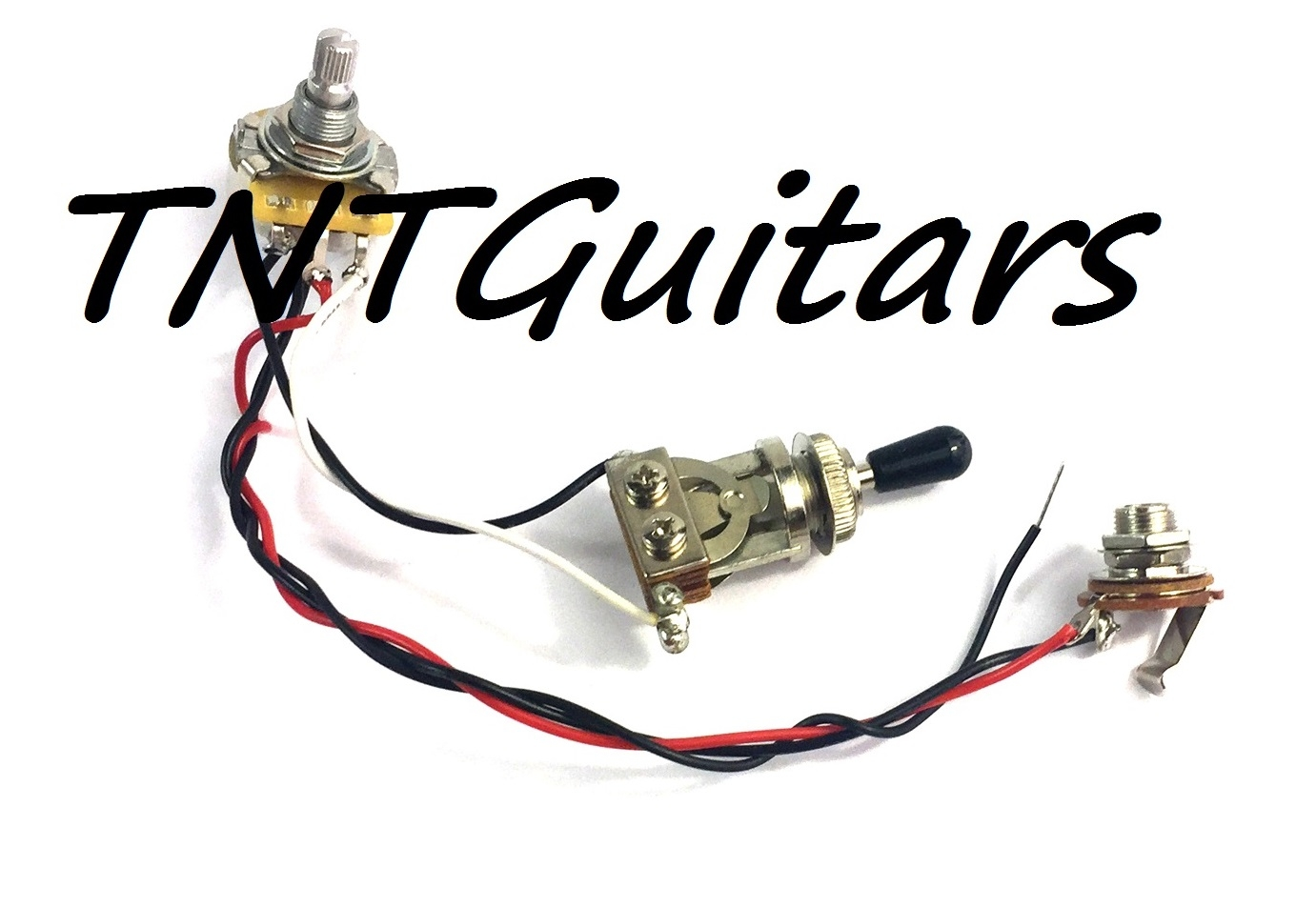 1v Prewired Harness 2 Pickup Cts Pot Hh Hs 3 Way Toggle Switch Guitar Wiring Volume Tone 3way Jack