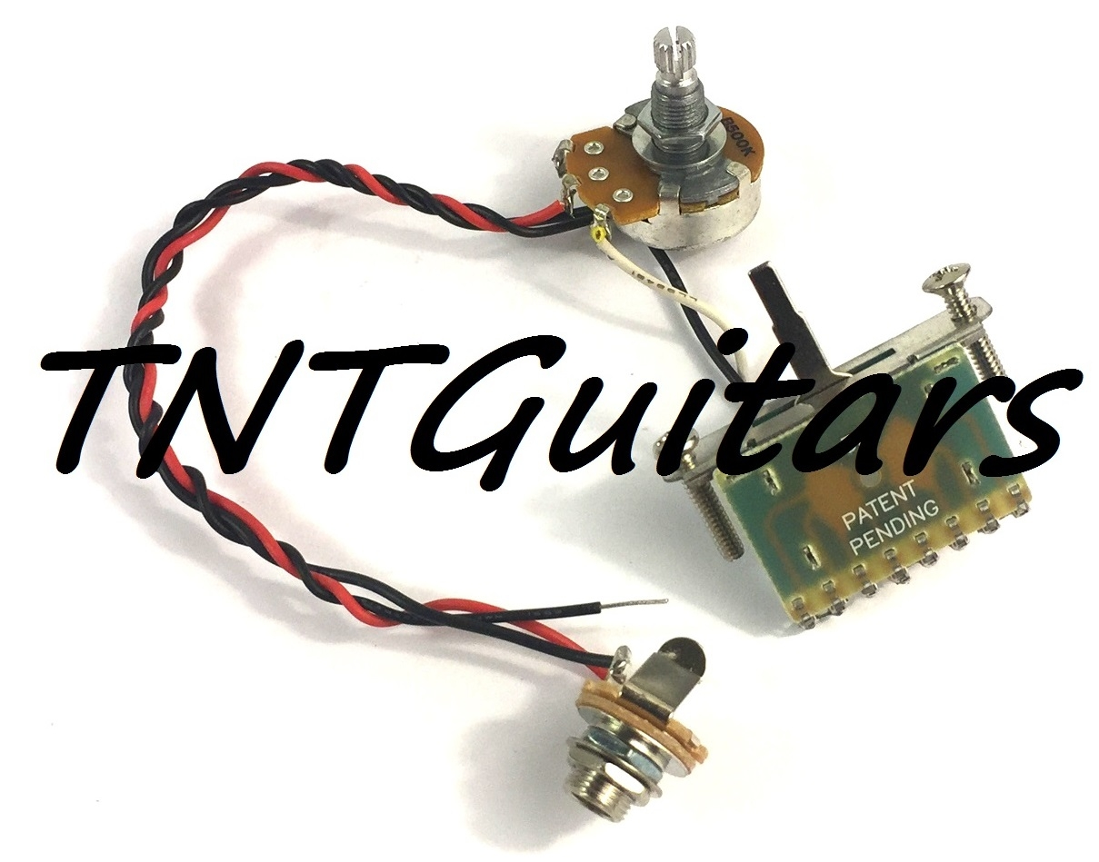 1 Volume Prewired Harness for Two Pickups, Standard HH/HS ... on