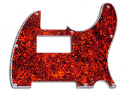 Tele Pickguard Humbucker, Red Tortoise