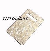 Strat Trem Cover, Aged Pearl