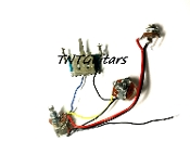 1V1T Prewired Harness, 2 Pickup PUSH-PULL Coil Split 3Way Switch