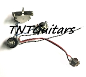 1V1T Prewired Harness, 2 Pickup SEALED Pots HH/HS 3WSealedSwitch