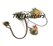1V1T Prewired Harness, 2 Pickup CTS PUSH-PULL Coil Split 3Way Fender Switch