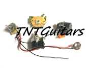 1V2T Prewired Harness, 2 Pickup CTS DUAL PUSH-PULL Coil Split 3Way Fender Switch