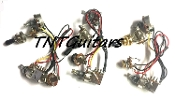 1V1T Prewired Harness, 2 Pickup PUSH-PULL Coil Split 3Way Toggle Switch