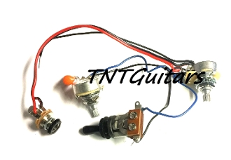1V1T Prewired Harness, 2 Pickup CTS Pots HH/HS 3W Toggle