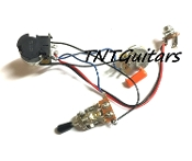 1V1T Prewired Harness, 2 Pickup CTS PUSH-PULL Coil Split 3Way Toggle Switch