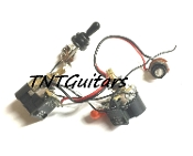 1V1T Prewired Harness, 2 Pickup CTS DUAL PUSH-PULL Coil Split 3Way Toggle Switch