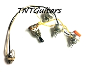 2V1T Prewired Harness, 2 Pickup ~ CTS 2Vol+1Tone, 3WToggleSwitch