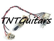 1V Prewired Harness, 2 Pickup PUSH-PULL Coil Split 3Way Toggle Switch