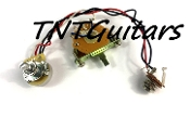 1V Prewired Harness, 2 Pickup CTS Pot HH/HS 3W Fender Blade Switch
