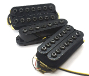 7 String Crusaders HSH Pickup Set, Humbucker-Single-Humbucker Adjustable Hex Cap Dragonfire Pickups