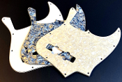 Jazz Bass Pickguard, 4 String Replacement Guard Choice of Colors