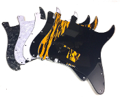 Angled One Humbucker Pickguard, One Hum Strat Guard Color Choice
