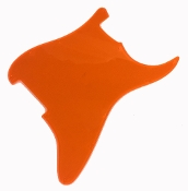 Blank Strat Pickguard, Fluorescent Transparent, Fluoro Orange