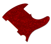 Blank Tele Pickguard - Create Your Own Telecaster Guard! Completely Blank: No Pickup Holes, No Mounting Holes, No Control Holes ~ Red Pearl / Pearloid