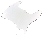 Blank Tele Pickguard - Create Your Own Telecaster Guard! Completely Blank: No Pickup Holes, No Mounting Holes, No Control Holes ~ White 3ply, WBW White-Black-White